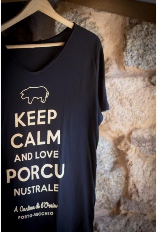 "Tee-shirt ""Keep calm and Love Porcu Nustrale"""