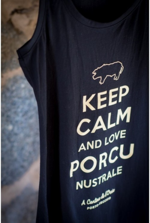 "Débardeur ""Keep calm and Love Porcu Nustrale"""
