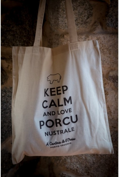 "Tote bag ""Keep calm and Love Porcu Nustrale"""