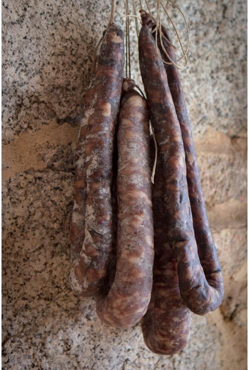 Figatellu frais de porc noir