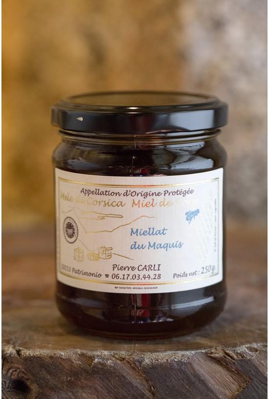 Miellat du maquis 250 gr, Pierre Carli, apiculteur récoltant