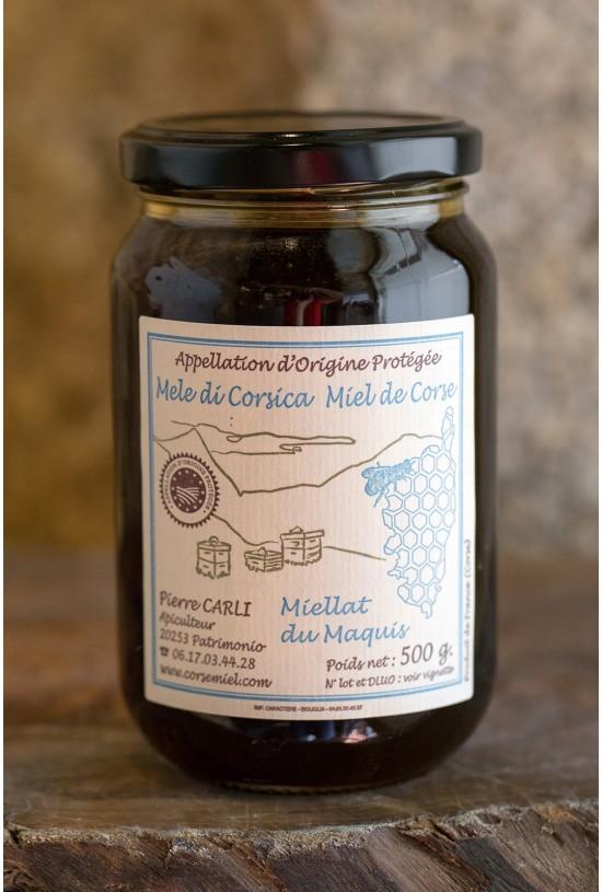 Miellat du Maquis. 500 gr, Pierre Carli, apiculteur récoltant