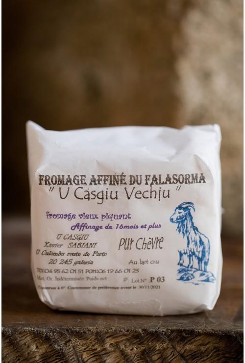 """Fromage de chêvre """"sabiani"""" affiné 12 mois (piquant), région galeria"""
