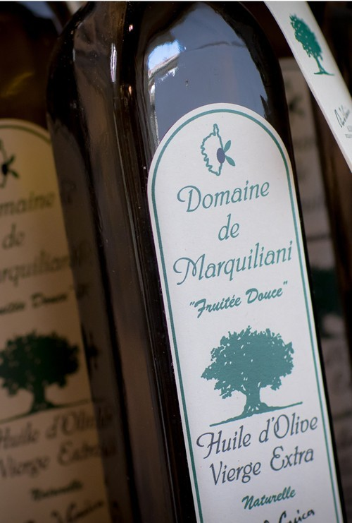 Huiles d'olives AOP Oliu di corsica
