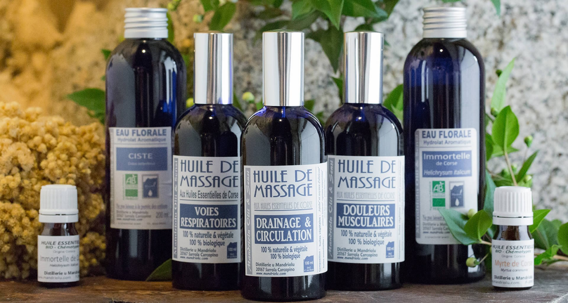 Les Huiles Essentielles Bio de Corse
